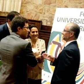 """Luis Fuentes desde Salamanca: """"Debemos incorporar la capacidad científica de la universidad al modelo productivo de Castilla y León"""""""