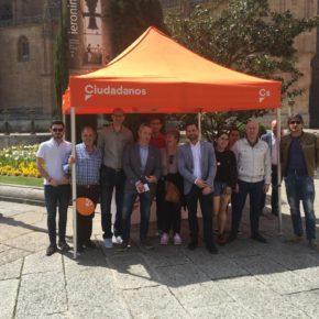 Ciudadanos (Cs) celebra el Día de Europa en Salamanca con varias iniciativas encaminadas a defender los valores de la UE