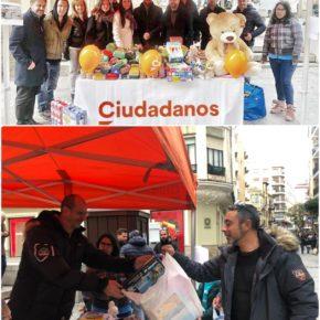Jóvenes Ciudadanos organiza su tradicional recogida de juguetes y alimentos a favor de Cruz Roja Juventud y Banco de Alimentos