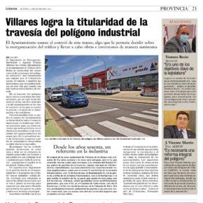 El Ayuntamiento de Villares consigue la titularidad de la travesía del polígono