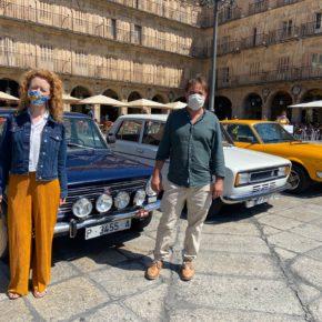La primera teniente de Alcalde de Salamanca, Ana Suárez y el Concejal de Turismo, Fernando Castaño asisten a la XXV Concentración Nacional SEAT 1430, 124, 124 Sport SALAMANCA
