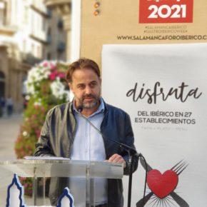 El concejal de Turismo de Salamanca, Fernando Castaño (Cs) presenta la III Gastroibérico Week